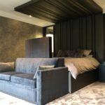 Bedroom headboard & sofa