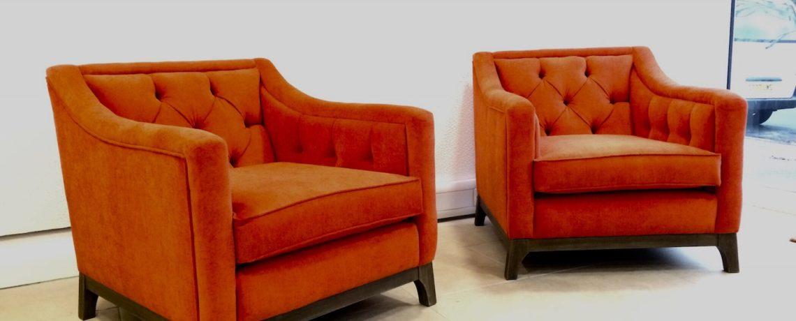 Burnt orange chairs