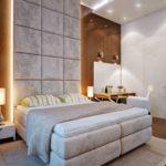 Floor to ceiling headboard